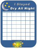 Stayed Dry All Night Behavior Chart