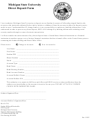 Michigan State University Direct Deposit Form