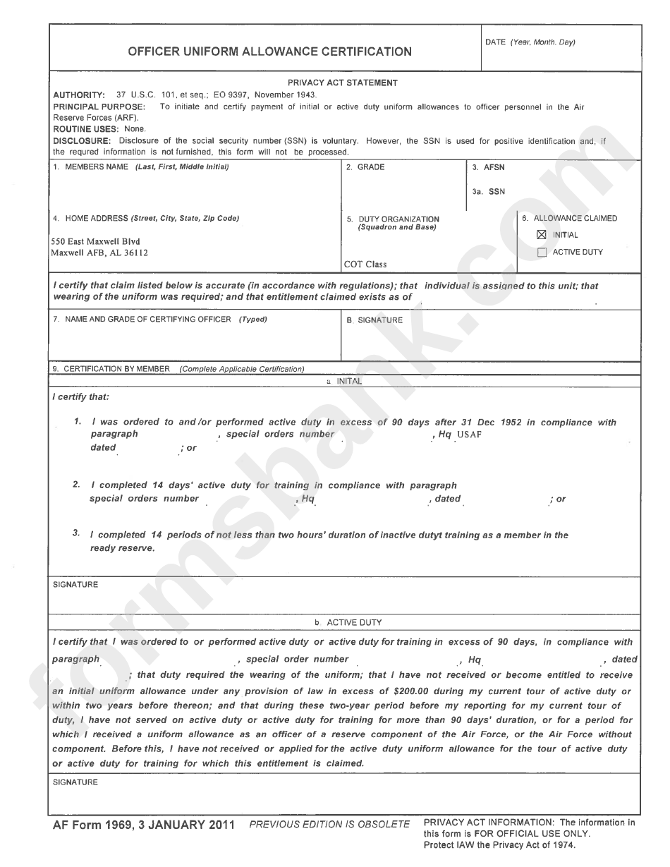 Af Form 1969 Cogu Lessecretsdeparis Co