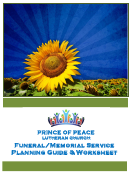 Sample Funeral/memorial Service Planning Worksheet Template