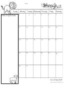 Blank March Calendar Template