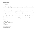 Scholarship Rejection Letter Template -gatech Delta Chi Scholarship