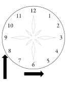 Clock Face Template With Ornament