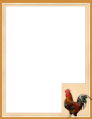 Rooster Card Template