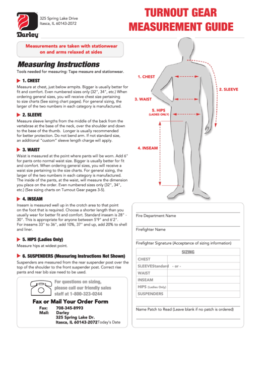 body measurements chart printable pdf download