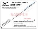 Mizuno Footwear Sizing Chart