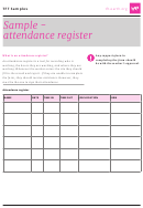 Attendance Register Sample