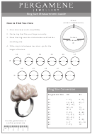 Pergamene Jewellery Ring Size Measurement Guide