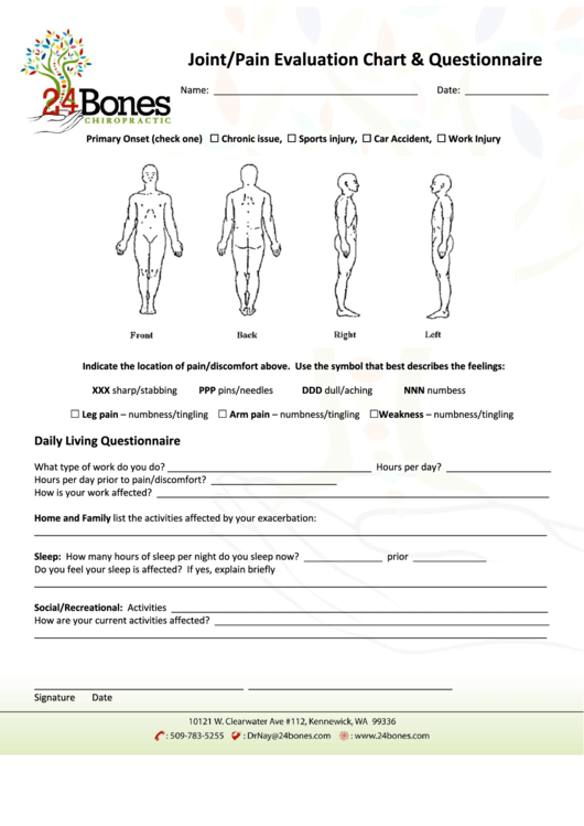 33 Body Pain Charts Free To Download In Pdf