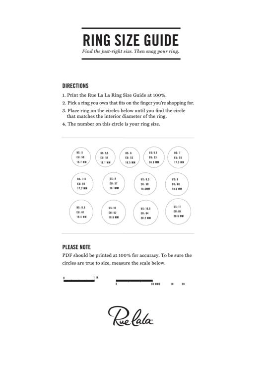 Rue La La Ring Size Guide