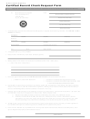 Certified Record Check Request Form