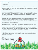 Easter Bunny Letter Template - Candy Alternative