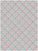 3d Paper - 10x10 Grid With Large Offset