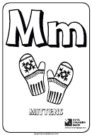 Coloring Page With Letter M