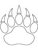 Bear Paw Template