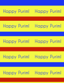 Happy Purim Label Template