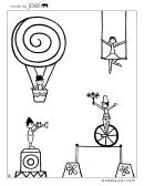 Circus Coloring Sheet