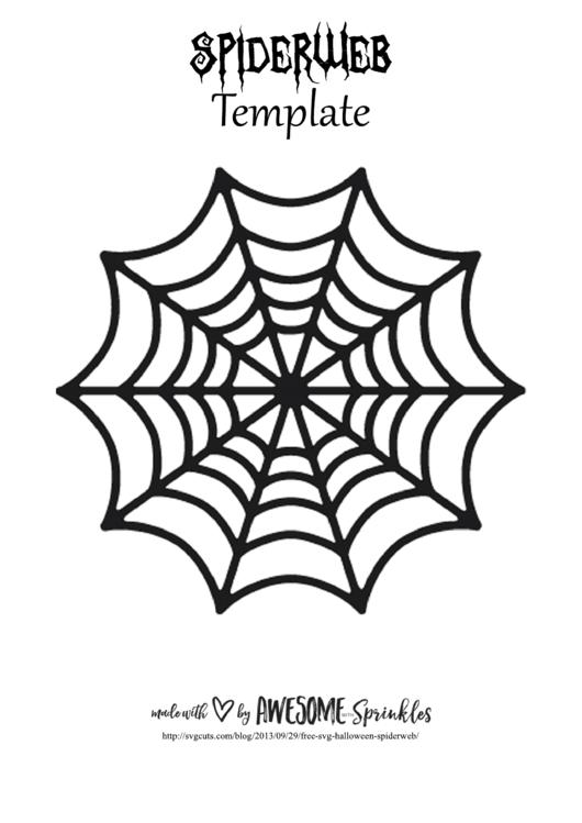 Spider Web Template Printable Pdf Download