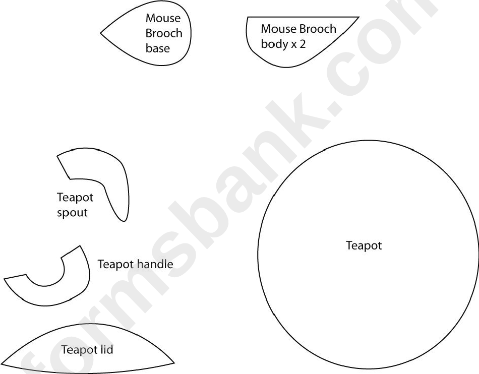 Cut Out Teapot Template