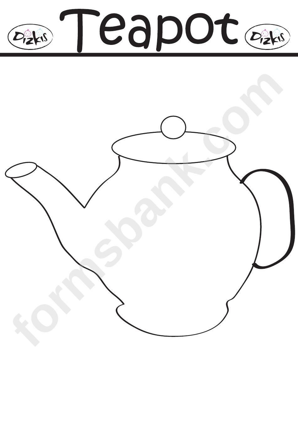 Teapot Template Printable Pdf Download