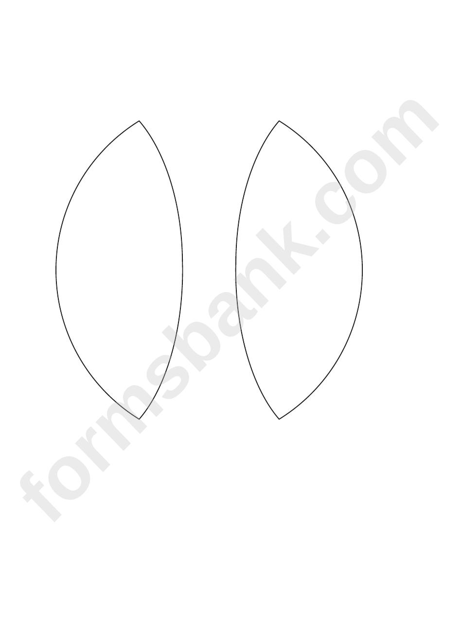 Bunny Ears Template Printable Pdf Download