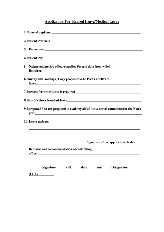 leave of absence request form template free
