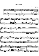 Invention 7 Bach Inventions Sheet Music