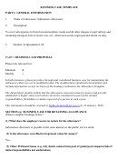 Business Case Template - Subsistence Allowance Printable pdf