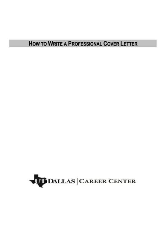 Cover Letter Template Printable pdf