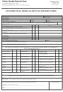 Confidential Medical/dental History Form