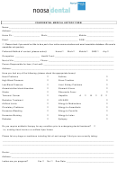 Confidential Medical History Form