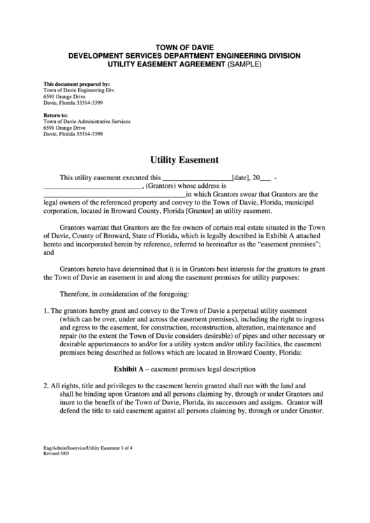 Top Utility Easement Form Templates Free To Download In Pdf Format