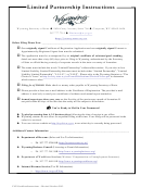 Foreign Limited Partnership Application For Certificate Of Registration - Wyoming Secretary Of State