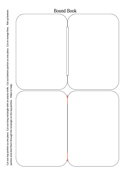 Bound Book Template Printable pdf