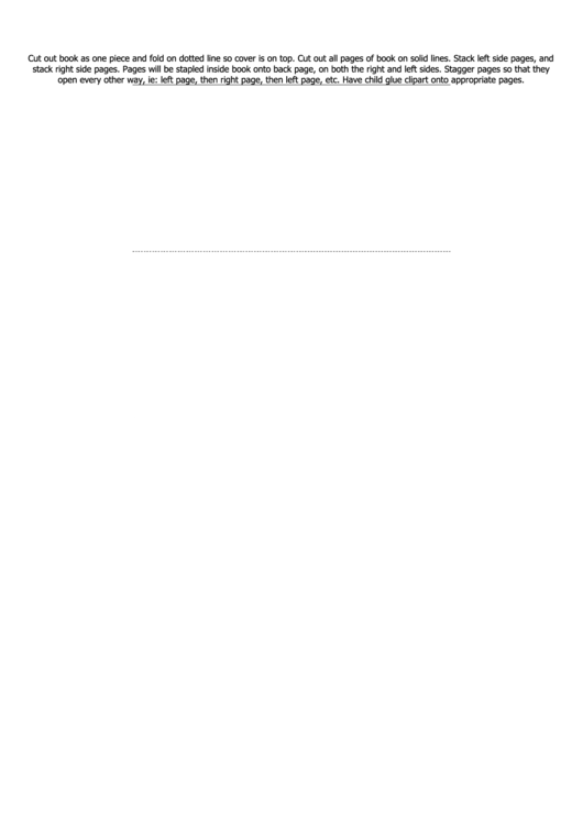 Staggered Book Template Printable pdf