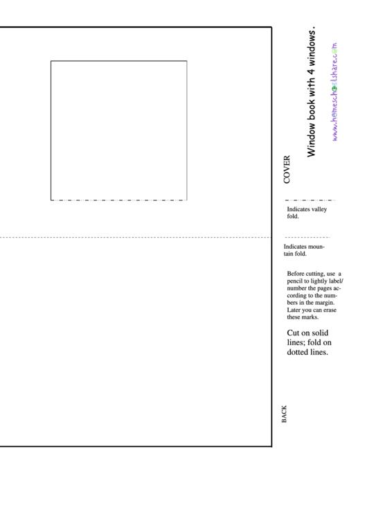 Four Window Book Template Printable pdf