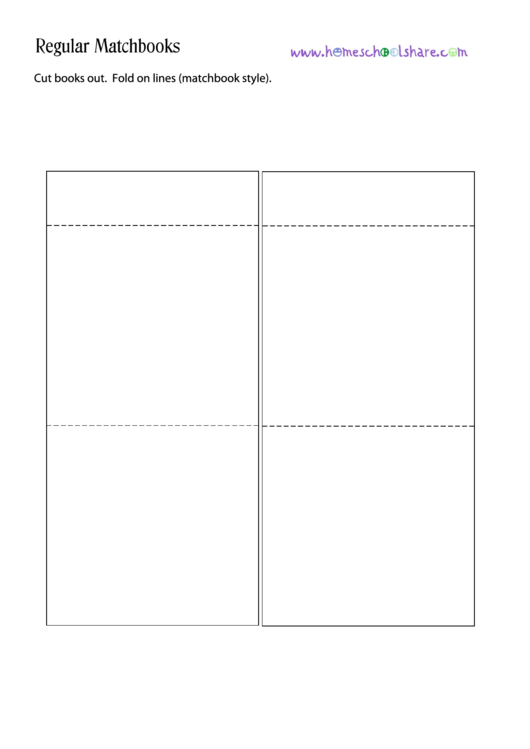 Matchbook Template Printable pdf