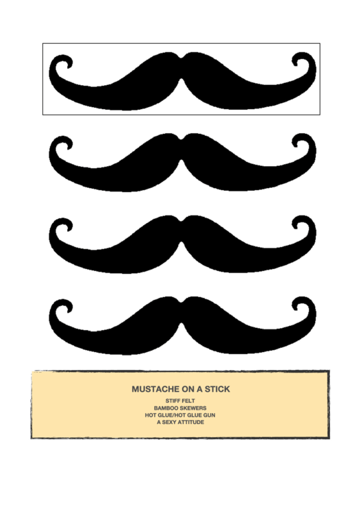 Mustache On A Stick Template