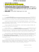 Letter To The Bishop Template