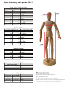 Epic Armoury Size Guide 2012