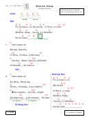 Wahine 'ilikea Chord Chart