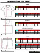 Lacrossewear Size Chart