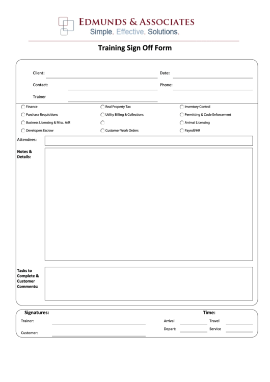 11 Sign Off Sheets free to download in PDF