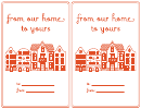 House Gift Label Template