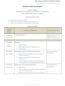 Example Process Agenda