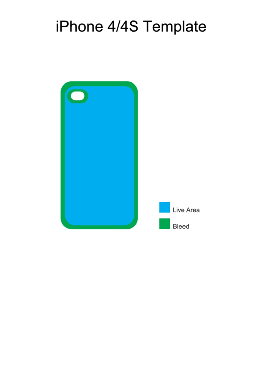 Iphone 4/4s Template Printable pdf