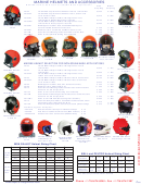 Marine Helmets And Accessories Sizing Chart