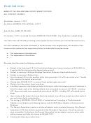 Draft Bid Letter