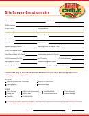 Site Survey Questionnaire