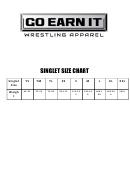 Go Earn It Singlet Size Chart